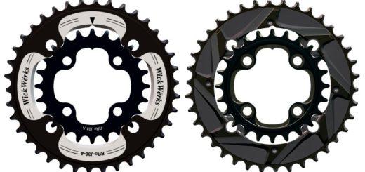 wickwerks mountain bike double chainrings