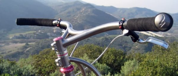 Black Sheep Bikes custom titanium handlebars