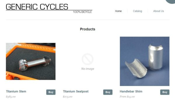 Generic Cycles Web Store
