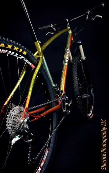 Groovy Cycleworks custom 29er with Brook Trout paint