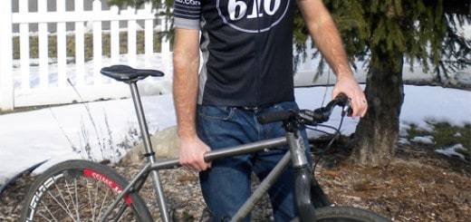 Mike Simonson and his custom stainless steel 616 Bicycle Fabrication ride