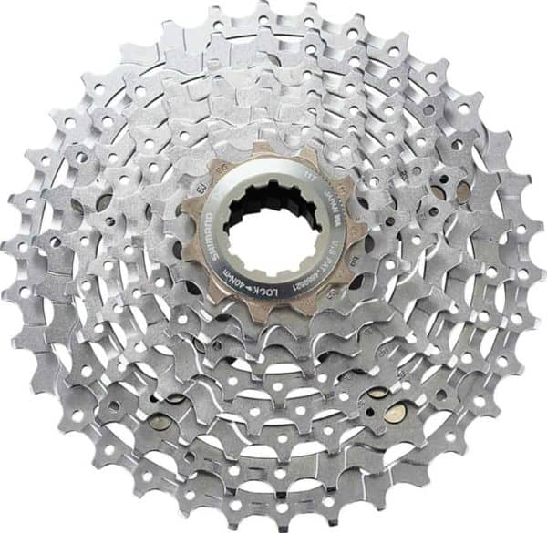 Shimano's XT level M770 cassette is an excellent 9-speed choice