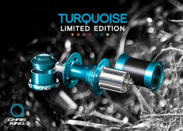 Chris King Limited edition turquoise parts