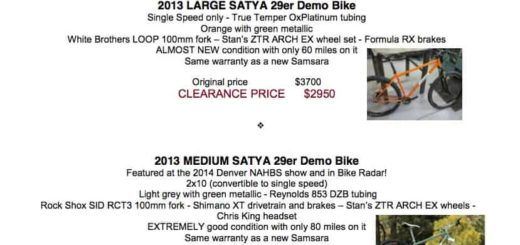 Samsara Cycles 2013 clearance