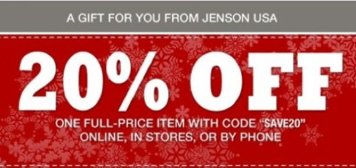 JensonUSA 20% Off Coupon Till November 24