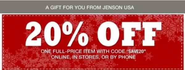 jenson usa coupon