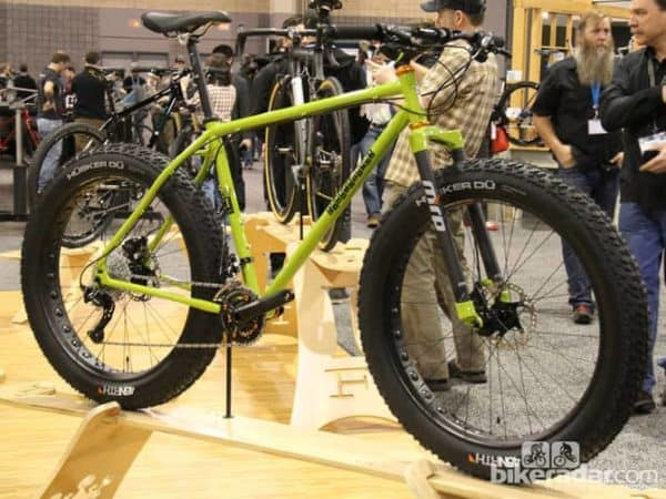 Indy Fab's fat bike was BRIGHT