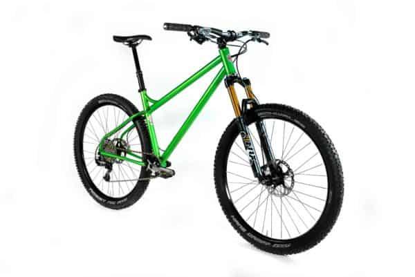 44 Bikes custom green hardtail
