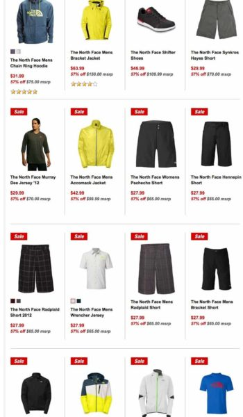 North Face Gear Sale