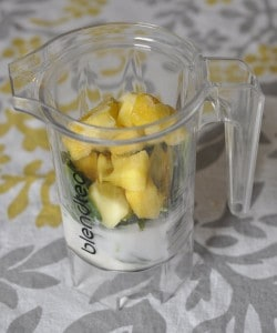 Pineapple Spinach Coconut Milk Green Smoothie