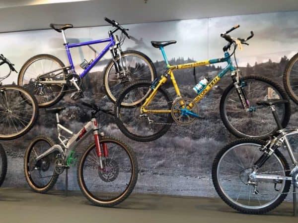 tons of mountain bike history on display